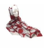 Women's 100% Cashmere Warm Scarf Shawl Wrap Blanket Scarves Red/Gray - $34.25