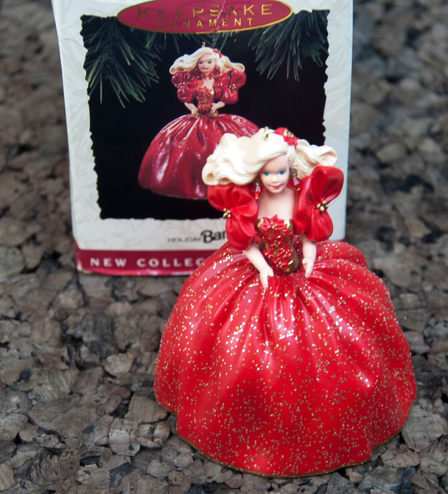 1993 Holiday Barbie Hallmark Keepsake Ornament with box