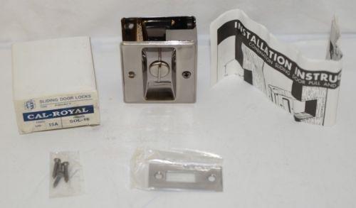 Cal Royal SDL16 Sliding Door Lock Privacy Satin Nickel Oxidized
