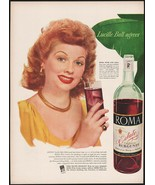 Vintage magazine ad ROMA WINE from 1948 Lucille Ball Hollywood star pic ... - $14.99