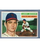Vintage MLB 1956 TOPPS #119 LARRY JACKSON (R) (GB) EX  - $11.25