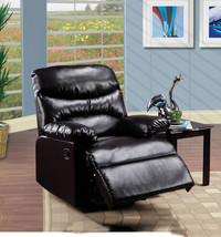 Bonded Leather Recliner Dark Brown Living Room Furniture Padded Chair Se... - $268.05