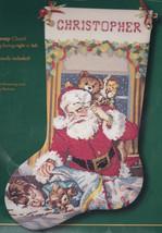 Bucilla Visions of Sugarplums Santa Christmas Cross Stitch Stocking Kit ... - $89.95