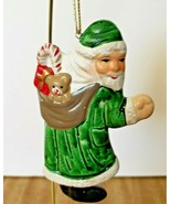 Russ Berrie Ceramic Santa with Sack of Toys Christmas Tree Ornament Item... - $6.92