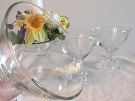 4 oz Sherbet Glasses, Anchor Hocking Martini Glasses, Berwick Bubble, Boopie  - $22.00