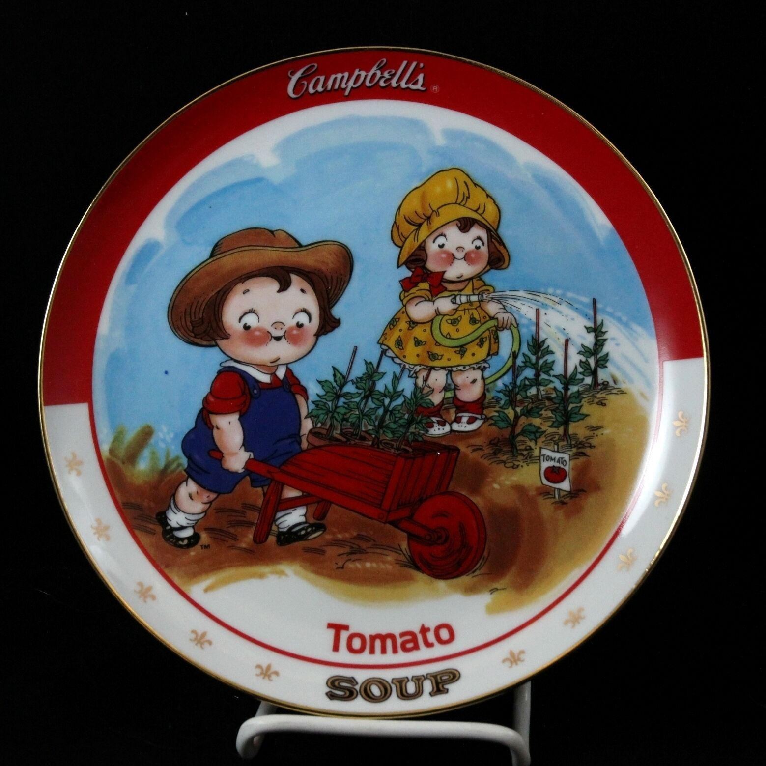 Primary image for Campbell Kids TOMATO SOUP Plate Danbury Mint Campbell's Collectible