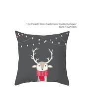 Cotton Linen Merry Christmas Cover Cushion Christmas Decor for Home - 49-84 - $12.99