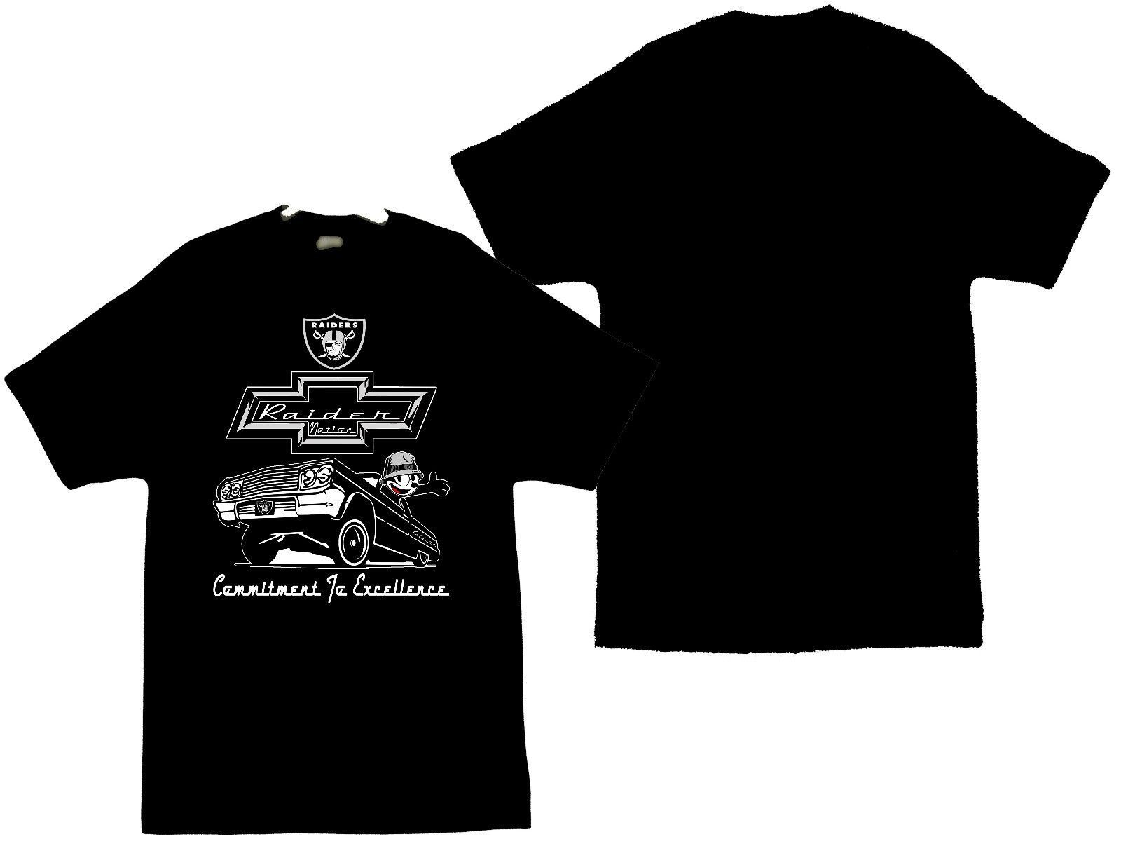 Primary image for Felix The Cat With The Raiders Logo and A Chevy Impala Men's T-Shirts