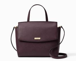 Kate Spade Laurel Way Alisanne Leather Satchel Crossbody Bag Mahogany NW... - £128.98 GBP
