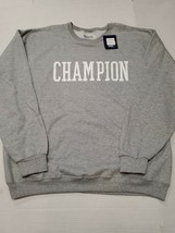 NWT Champion Men's Big & Tall Pullover Crewneck Gray Sweatshirt 2XL New - $34.64
