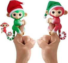 Fingerlings Christmas Holiday 2 pack Holly Jolly and Merry Monkey New - $34.64