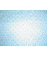Diane Kappa Light Blue Medallions Fabric David Textiles Nostalgia 100% C... - $18.99