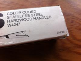 Vintage Cook & Serve Ware 8 Fondue Forks Turned Handles Color Coded W424... - $5.25