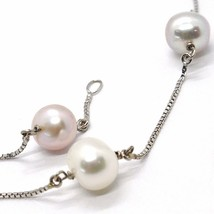 Collar Oro Blanco 18K, Perlas & Violeta Lavanda, Alternate, Cadena Veneciano image 2
