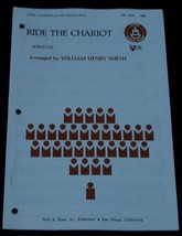 Ride The Chariot, Spiritual, William Henry Smith,  1967  OLD SHEET MUSIC - $5.93
