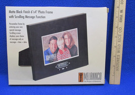 Photo Frame w/ Scrolling Message Function Black Matte Finish 6x4 Melannc... - £12.92 GBP