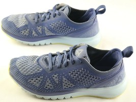 Reebok Ultra Knit Sneakers Womens Size 7 Blue Print Smooth Running Shoes - $22.50