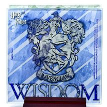 Harry Potter Hogwarts House Crest Prints 4 Piece Fused Glass Coaster Set Holder image 5