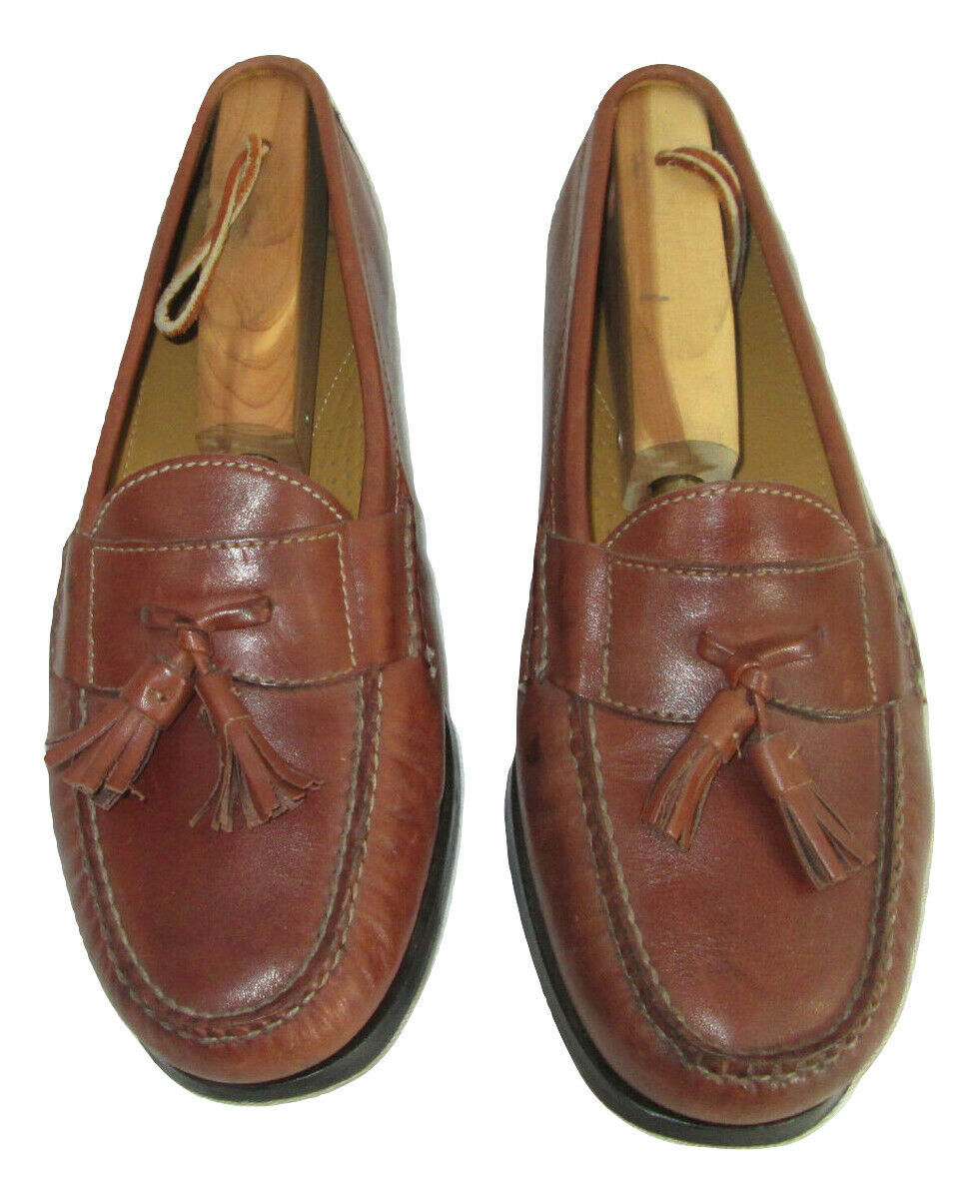 Cole Haan Shoes Size 7.5 Loafers Mens Brown Leather Tassels C06982 India  image 4