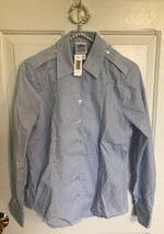 New Dscp Af Air Force Women's Long Sleeve Dress Blue Shirt Size 4RLS Tuck-In - $12.84
