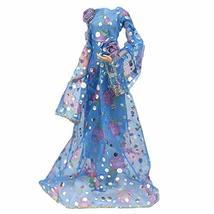 PANDA SUPERSTORE Handmade Retro Evening Dress Blue Long Sleeves Princess Dress W