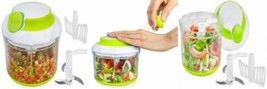 Brieftons QuickPull Food Chopper: Large 4-Cup Powerful Manual Hand Held...  - $26.75