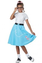 50's Blue Poodle Skirt Child Costume - $11.99