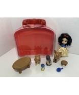 Disney Animators Collection Snow White Mini Doll Playset case figures se... - $22.76