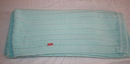 STOKKE Baby Blanket Soft GREEN AQUA BLUE 100% Cotton RIBBED Sweater Knit... - $29.00