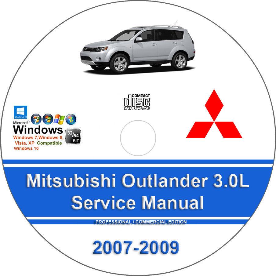 025. 025. Mitsubishi Outlander 2007 2008 2009 3.0L Factory Workshop Service  Repair Manual