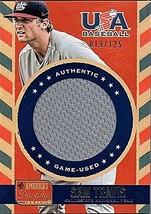 2013 Panini America's Pastime USA Baseball Sam Travis RC Jersey 19/125 - $8.60