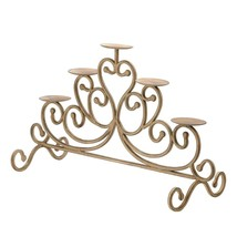 Standing Candle, Antique Iron 5-candle Decorative Table Candle Stand - $49.59