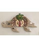 Unique Handmade Pacific Ocean Beach Seashell Turtle Natural Ocean Decor ... - $39.59