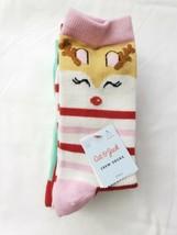 New Girls 4pk Reindeer Crew Socks - Cat & Jack  Sz L (3 - 10) - $7.99
