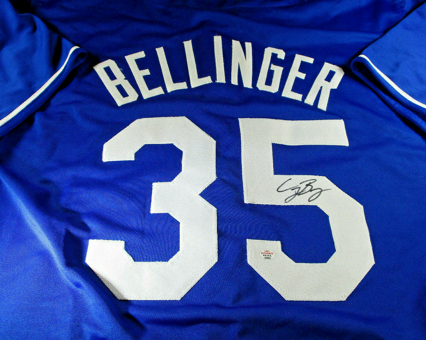 CODY BELLINGER / AUTOGRAPHED LOS ANGELES DODGERS CUSTOM BASEBALL JERSEY / COA