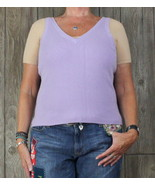 J McLaughlin L size Top Light Purple Stretch Tank Womens Work Casual Vne... - $21.78