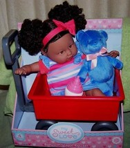 "My Sweet Love 13"" AA Baby Doll with Wagon New - $16.50"