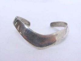 Womens Vintage Estate Sterling Silver Taxco Cuff Bracelet, 15.6g E1468 - $75.00