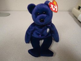 Princess Diana Ty Beanie Baby Bear 1997 P.E. Pellets China Rare Mint wit... - $24.74