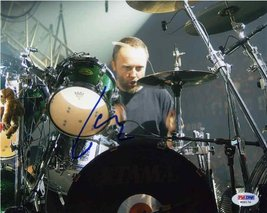 "Lars Ulrich ""Metallica"" Signed 8x10 Photo Certified Authentic PSA/DNA COA - $227.69"