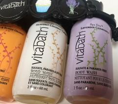 Vitabath Gift Set Body Wash 4-2 OZ Bottles Spearment Orange Coconut Lavender image 6