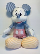 "DISNEY PARKS EXCLUSIVE Mickey Mouse 15"" SEERSUCKER PLUSH DOLL NEW WITH TAG - $39.19"