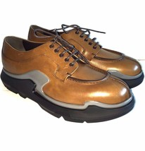 Marked 10 9 Y 5 Size US 5 New Rodeo Leather Shoes Rubber Prada 0531232 FnvPq7Frwz