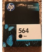 Genuine HP 564 Black Ink Cartridges CB316WN Sealed - Date: 2014 - $6.89
