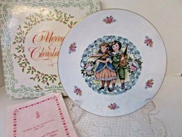 Royal Doulton Bone China Collector Plate Valentine's Day 1981 England Boxed - $14.80