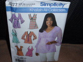 Simplicity 4277 Women's Tunics Khaliah Ali Collection  Size  10 to 18  New Uncut - $8.00