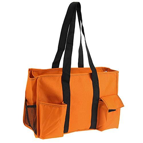 Multi Pocket Orange Black Utility Bag Tote Scarlett's Bags Brand