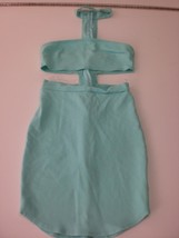W13860 Womens STYLE RACK Mint Green Choker Cut Away BODYCON DRESS Medium... - $30.89