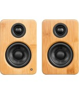 Kanto YU2BAMBOO 2.0 Speaker System, 50W RMS, Bamboo, USB - $289.99