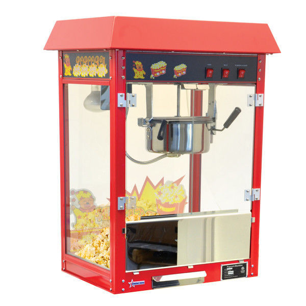 Omcan 40385 VBG802 Stainless Steel Commercial Popcorn Machine 8 oz New